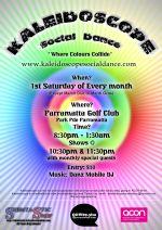 Kaleidoscope Social Dance Poster - 2012
