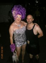 Beverly Buttercup & Scott Abrahams At Mardi Gras Party 03.03.12.