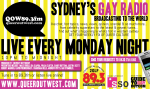 Queer Out West 89.3FM - Ad/Poster - January 2012.