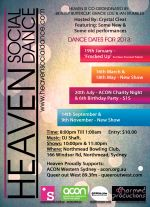 HEAVEN SOCIAL DANCE - POSTER - 2013.