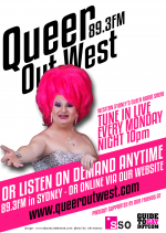 Queer Out West 89.3FM -Beverly Buttercup - POSTER 2013 (2)
